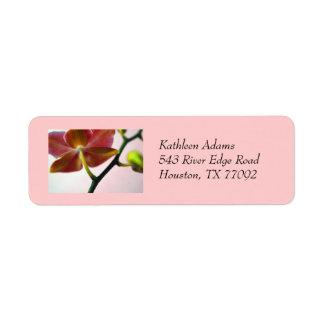 Orchid return address label