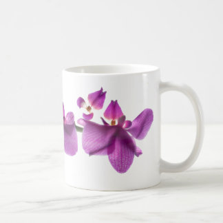 Orchid Row on White 11 oz Classic White Mug