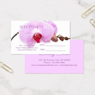 Orchid Salon SPA Massage Aromatherapy Appointment Business Card