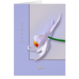 Orchid side greeting card