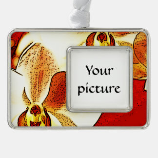 Orchid Silver Plated Framed Ornament