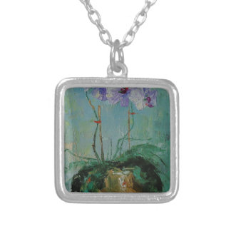 Orchid Silver Plated Necklace