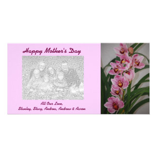 Orchid Spray Mother's Day Photo Cards