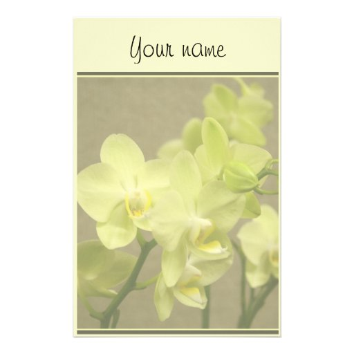 Orchid Stationary Stationery Design