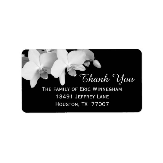 Orchid Thank You Label Address Label