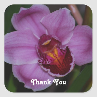 Orchid Thank You Stickers