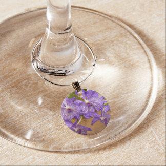 Orchid - Vanda sansai blue Wine Charms
