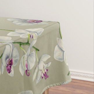 Orchid Watercolor Painting Tablecloth