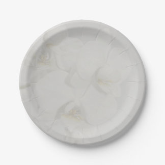 Orchid Wedding Collection Paper Plates