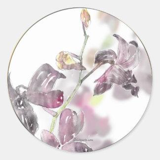 Orchid Wedding Envelope Seal