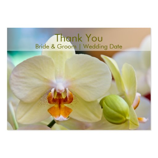 Orchid • Wedding Favour Tag Business Card Templates