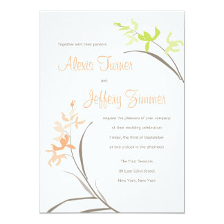 "Orchid Wedding Invitation 5"" X 7"" Invitation Card"