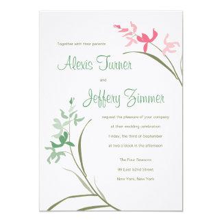 "Orchid Wedding Invitation - Clover and Guava 5"" X 7"" Invitation Card"