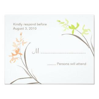 Orchid Wedding RSVP Cards Custom Invites