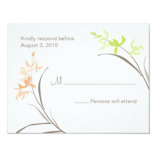 "Orchid Wedding RSVP Cards 4.25"" X 5.5"" Invitation Card"