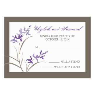 Orchid Wedding Save the Date Cards Business Card