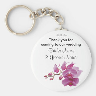 Orchid Wedding Souvenirs Keepsakes Giveaways Basic Round Button Key Ring