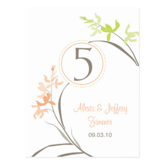Orchid Wedding Table Cards Postcards