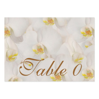 Orchid wedding table number placement business card template