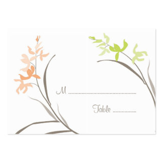 Orchid Wedding Table Seating Cards Business Card