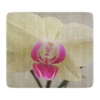 Orchid White Pink Cutting Board