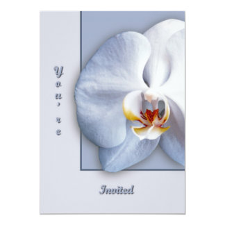"""Orchid  You're Invited 5"""" X 7"""" Invitation Card"""