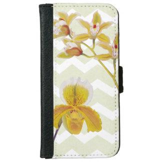 orchid zigzag iphone wallet case