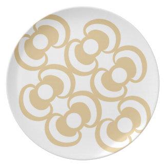 Orchideas (white) / Melamine Plate