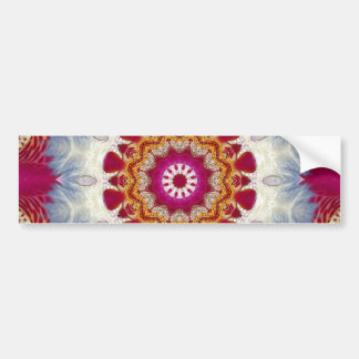 Orchidee und Pusteblume - orchid and blowball Car Bumper Sticker