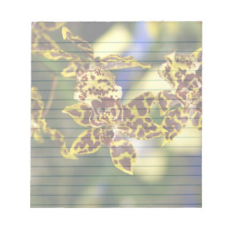 """Orchids  5.5x6"""" notepad"""