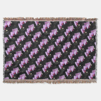 orchids-837420_640 throw blanket