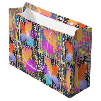 Orchids and Butterflies Large Gift Bag