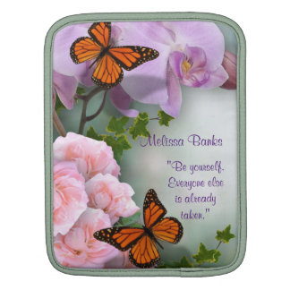 Orchids and butterflies tablet Sleeve iPad Sleeve