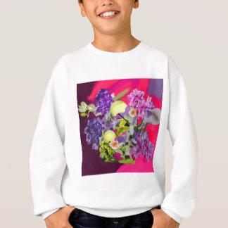 Orchids bouquet with tennis balls sweatshirt