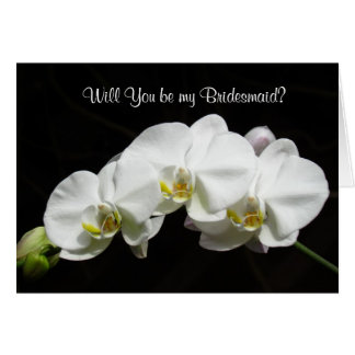 Orchids Bridesmaid Note Card