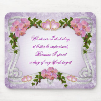 Orchids daily inspiration mousepad