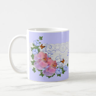 Orchids floral personalized Mug