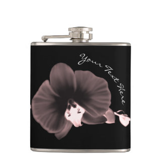 Orchids Hip Flask