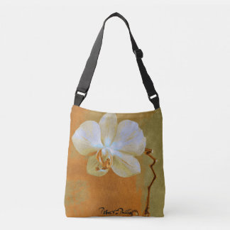 Orchids in Shades of Orange Crossbody Bag