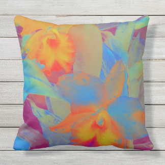 Orchids of Hawaii Throw Pillow
