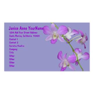 Orchids Purple Lavender Business Card Templates