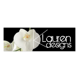 orchids skinny business card