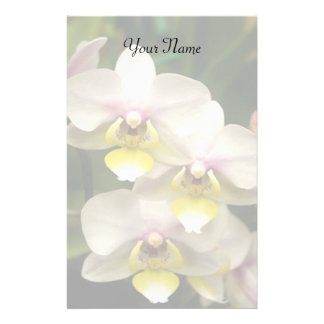 Orchids stationary stationery paper