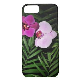 Orchids with palm leaves iPhone 8/7 case