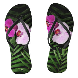 Orchids with palm leaves thongs