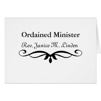 ORDAINED MINISTER GIFTS CARD
