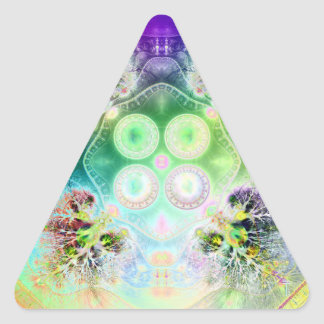 Order at the Root of All Chaos V 2 (Triangle) Triangle Sticker
