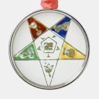 Order Eastern Star Metal Ornament