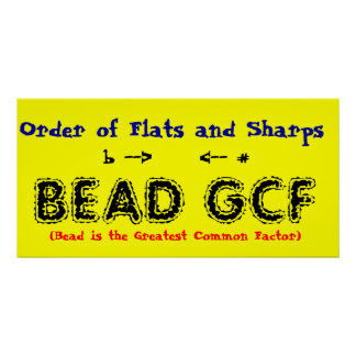 Order of Flats and Sharps Poster