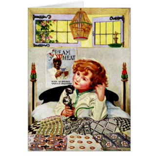 """""""ORDER OF THE DAY"""" VINTAGE CRM OF WHEAT GREETING CARD"""